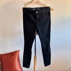Old Navy Mid Rise Rockstar Black Jeans